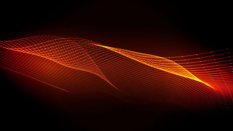 抽象波浪线条背景矢量素材(EPS)