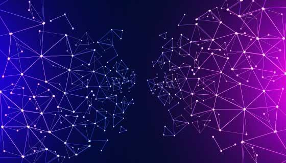 渐变网络连接科技背景矢量素材(AI/EPS)