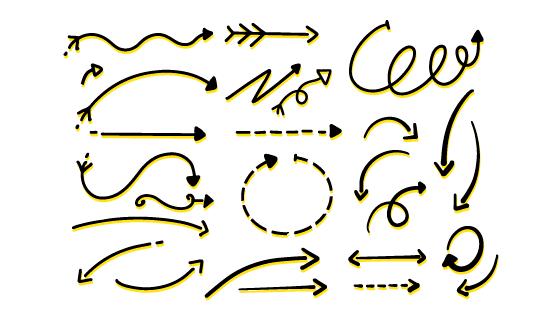 手绘箭头矢量素材(AI/EPS/PNG)