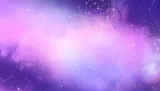 创意水彩银河背景矢量素材(AI/EPS)