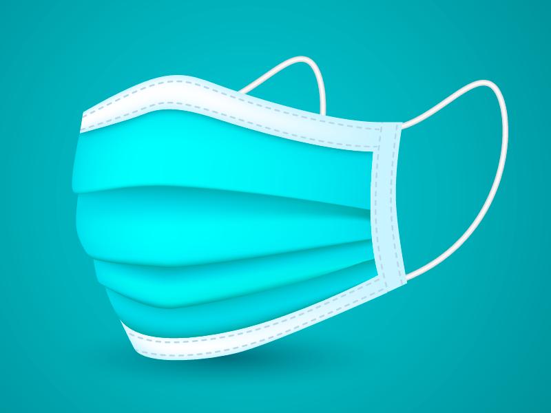 扁平风格的口罩矢量素材(AI/EPS)