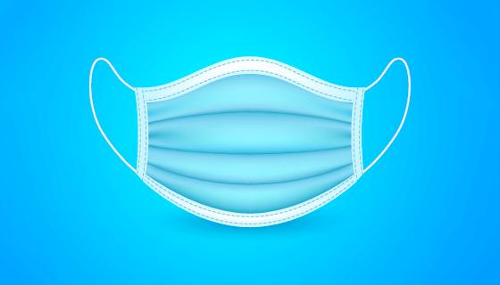 扁平风格的一次性口罩矢量素材(AI/EPS)