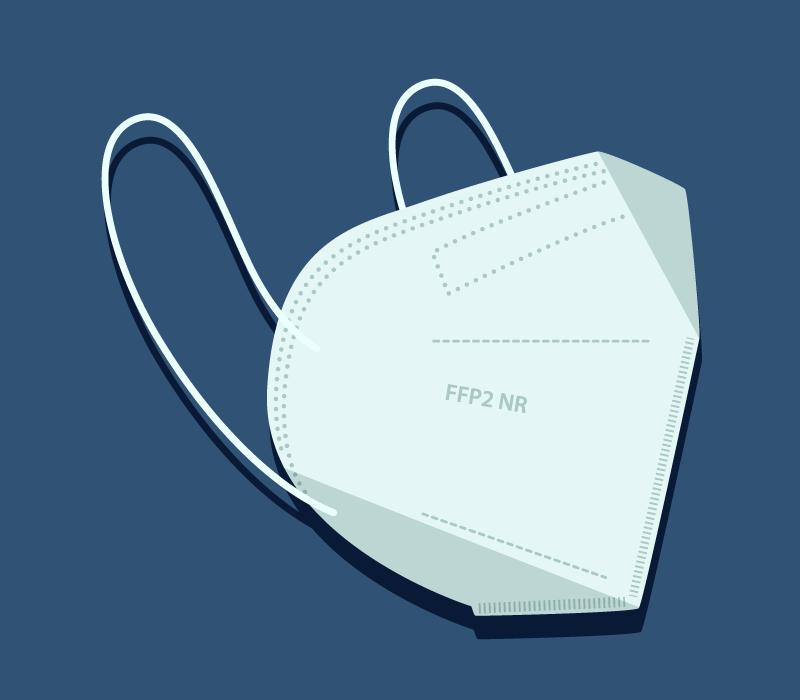 扁平风格的FFP2口罩矢量素材(AI/EPS)