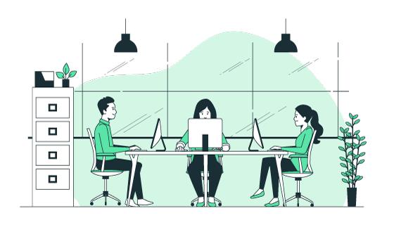 办公室里工作的人们矢量素材(AI/EPS)