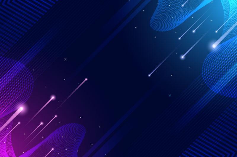 高速光束科技背景矢量素材(AI/EPS)