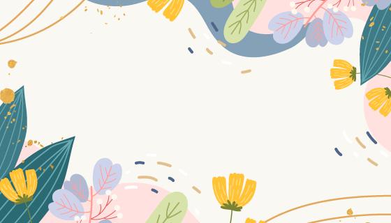 创意春季背景/壁纸矢量素材(AI/EPS)
