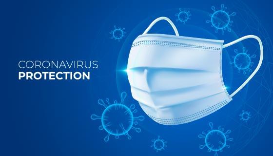 冠状病毒和口罩矢量素材(AI/EPS)