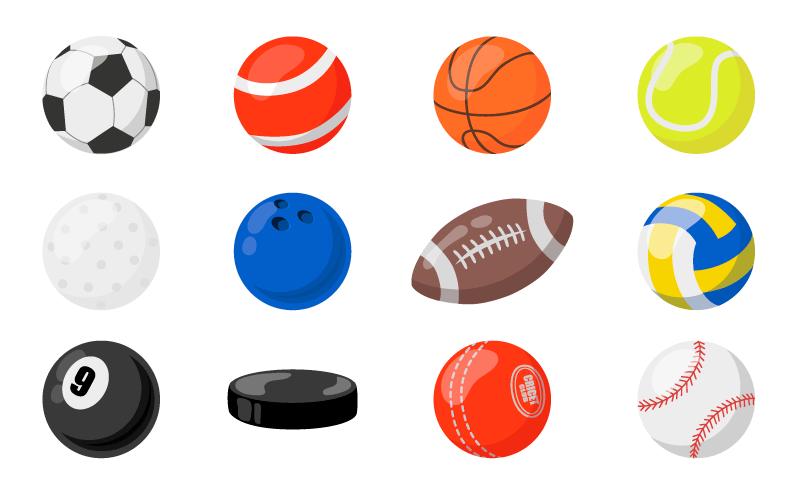 各种各样的体育球体矢量素材(EPS)