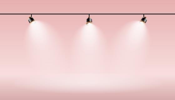 聚光灯和粉色背景矢量素材(AI/EPS)