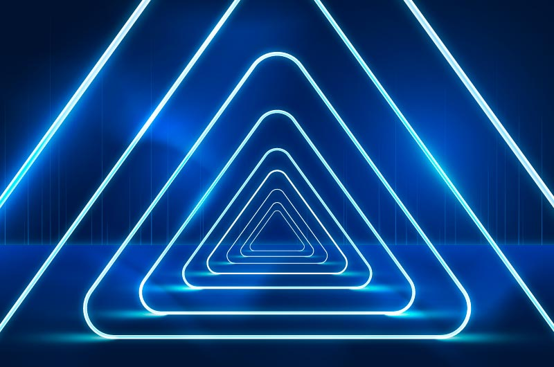 立体三角形霓虹灯背景矢量素材(AI/EPS)