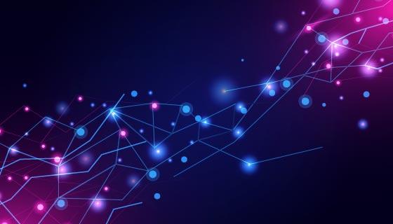 抽象渐变的网络连接背景矢量素材(AI/EPS)