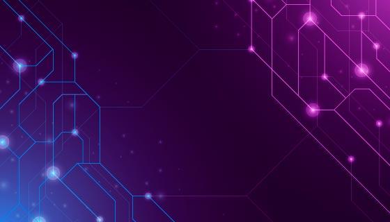 网络连接科技背景矢量素材(AI/EPS)