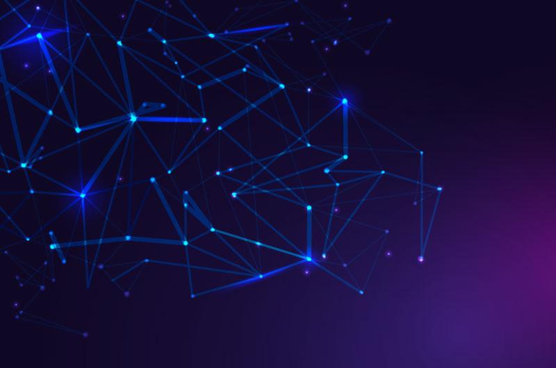 紫色网络连接科技背景矢量素材(AI/EPS)