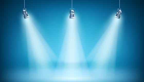 蓝色聚光灯背景矢量素材(AI/EPS)