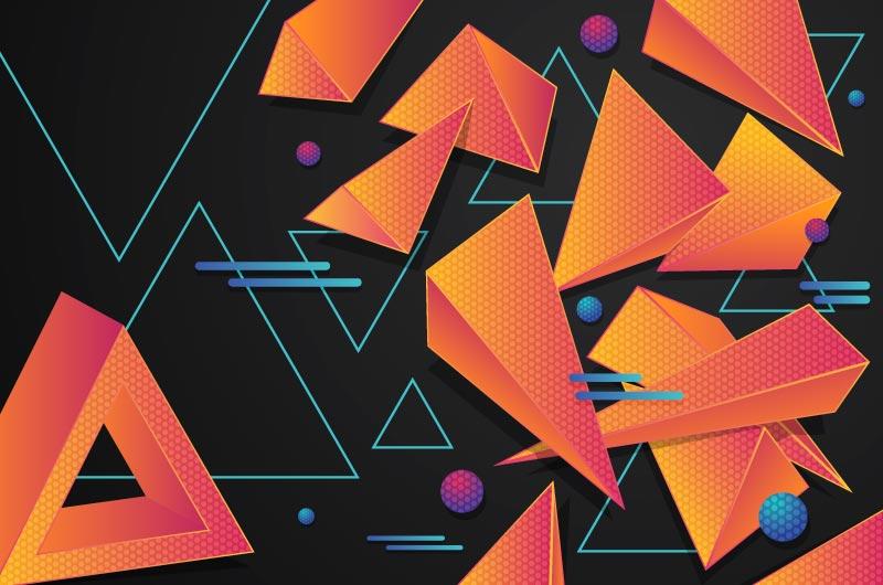 立体多边形背景矢量素材(AI/EPS)