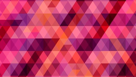 红色粉色多边形背景矢量素材(AI/EPS)