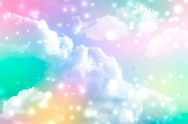 渐变柔和的天空背景矢量素材(AI/EPS)