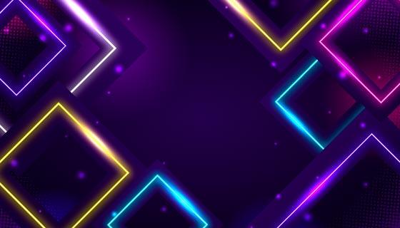 多彩的菱形霓虹灯背景矢量素材(AI/EPS)