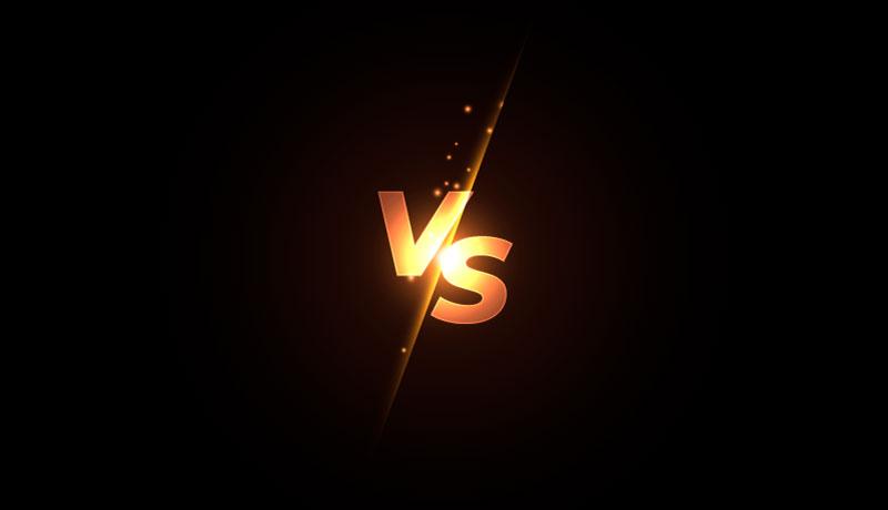 金色VS双方对抗银幕背景矢量素材(EPS)