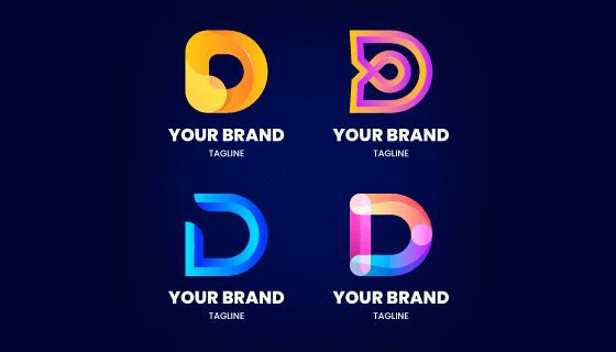 字母D设计的创意渐变logo矢量素材(AI/EPS)