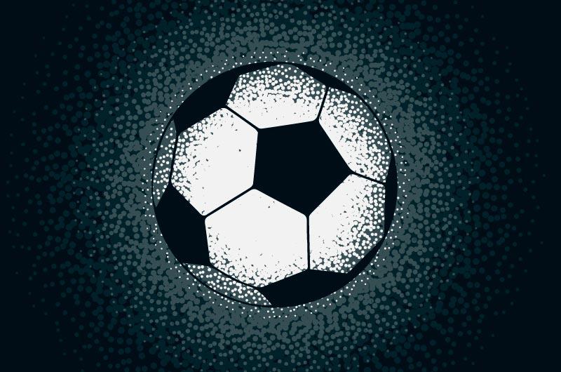 用圆点制作的创意足球矢量素材(EPS)