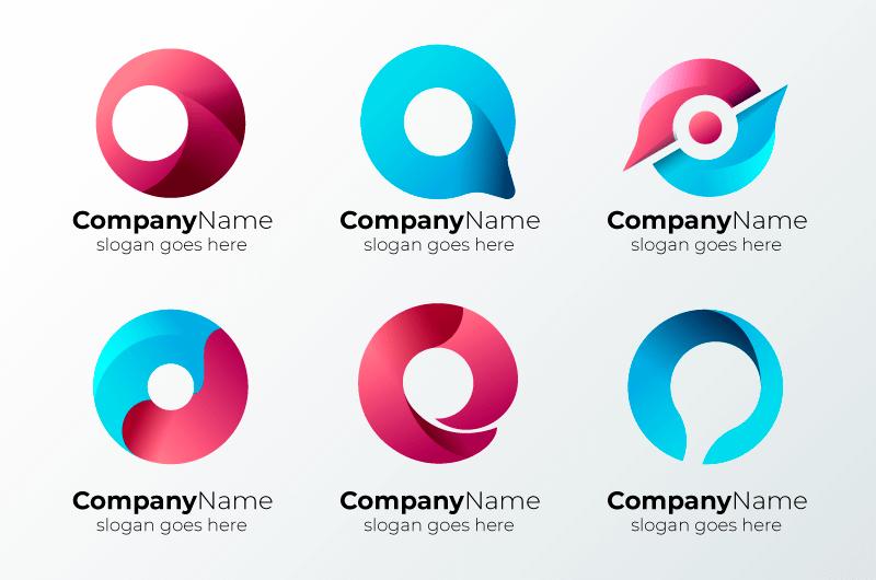字母O设计的创意logo矢量素材(AI/EPS)