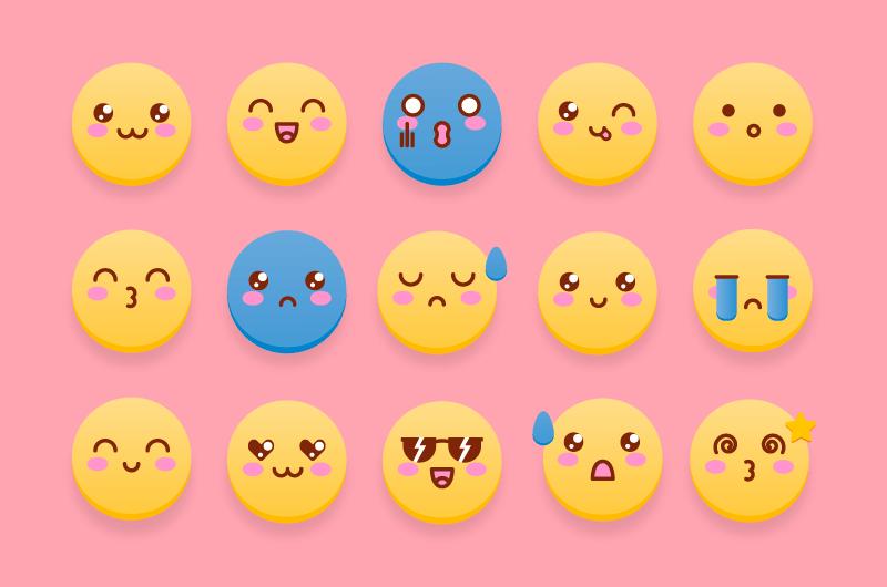 可爱的表情符号矢量素材(EPS/免扣PNG)