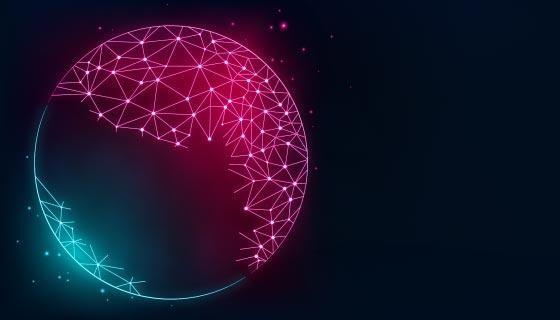 地球互联科技背景矢量素材(AI/EPS)