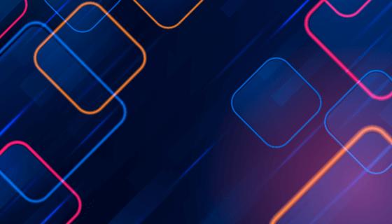 多彩方形霓虹灯背景矢量素材(AI/EPS)