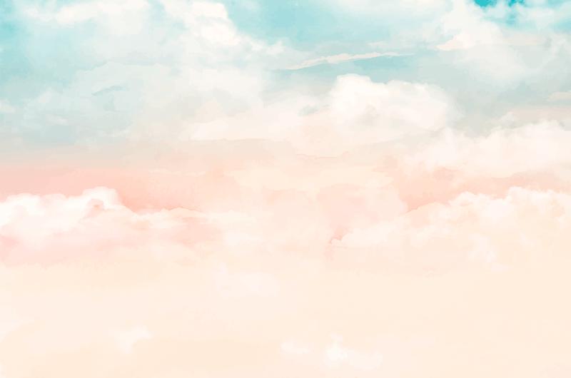 手绘水彩天空背景矢量素材(AI/EPS)