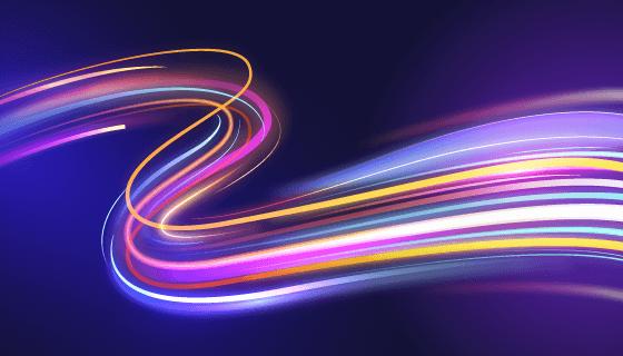 多彩光线背景矢量素材(AI/EPS)