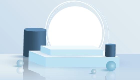 3D抽象几何场景矢量素材(AI/EPS)