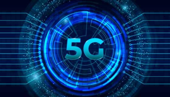 蓝色5G网络概念背景矢量素材(AI/EPS)