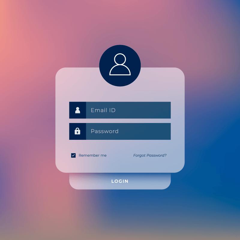 模糊背景设计用户登录界面矢量素材(EPS)