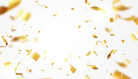 逼真的金色纸屑背景矢量素材(AI/EPS)