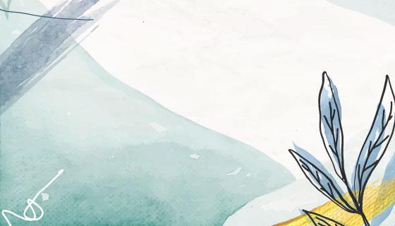 浅蓝色水彩背景矢量素材(EPS)