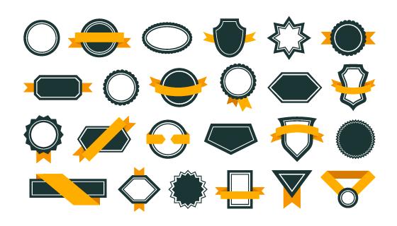 各种各样的奖章矢量素材(EPS/PNG)