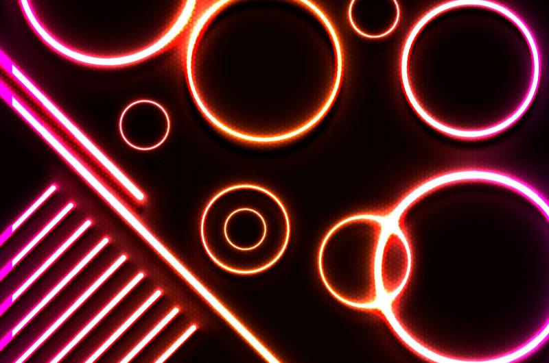 闪亮的霓虹灯背景矢量素材(AI/EPS)