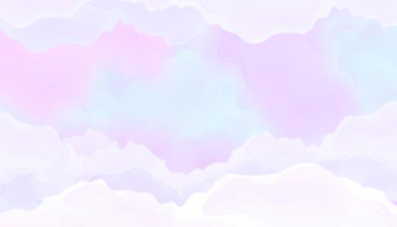 手绘水彩粉彩天空背景矢量素材(AI/EPS)