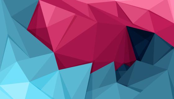 粉色和蓝色多边形背景矢量素材(AI/EPS)