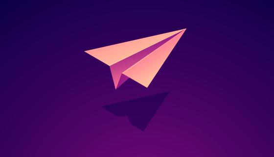 逼真的纸飞机矢量素材(EPS)