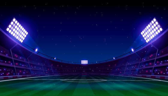 逼真的足球场矢量素材(AI/EPS)
