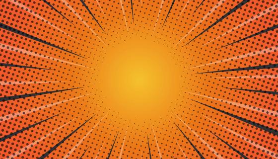 橙色漫画爆炸背景矢量素材(AI/EPS)