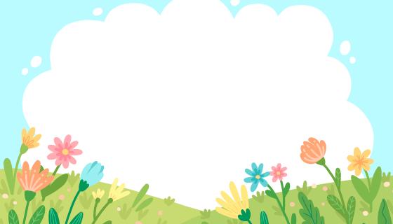 扁平风格自然景色背景矢量素材(AI/EPS)