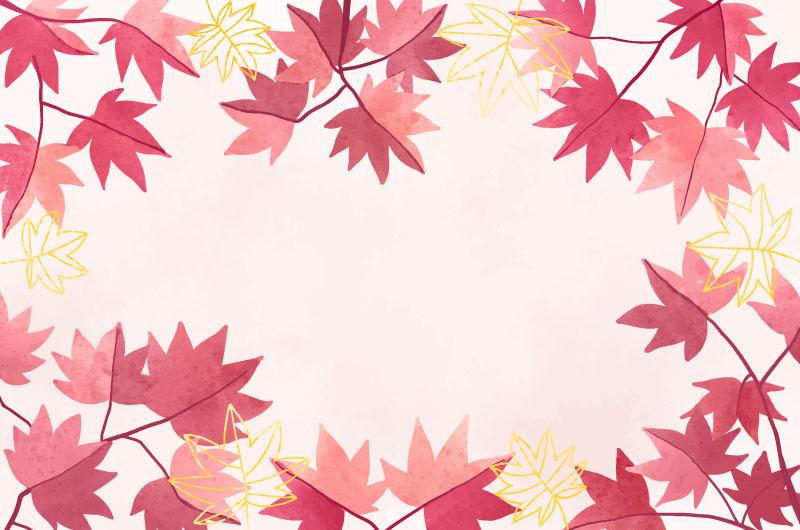 水彩风格的叶子背景矢量素材(AI/EPS)