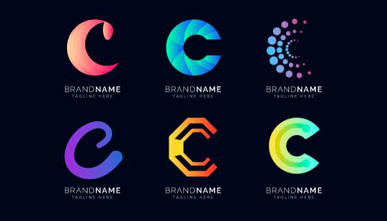 字母C设计的创意logo矢量素材(AI/EPS)