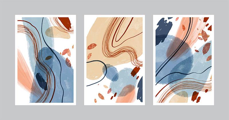 三张抽象设计的封面矢量素材(AI/EPS)
