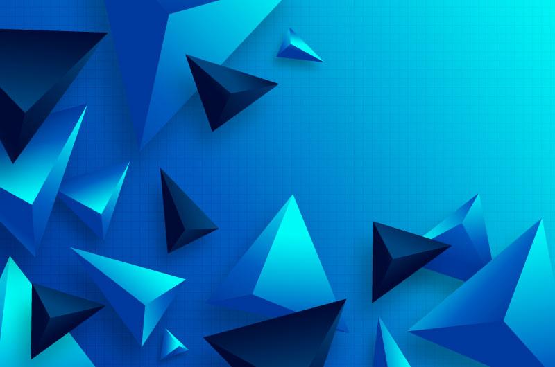 立体渐变多边形背景矢量素材(AI/EPS)