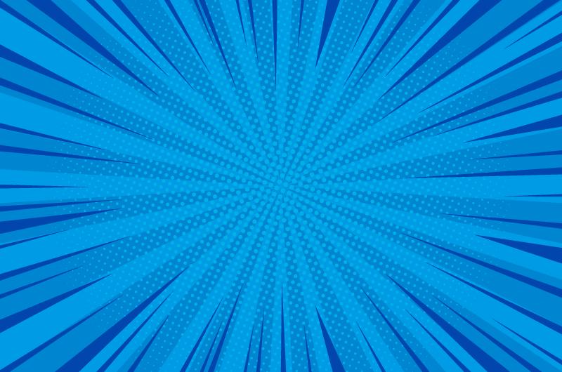 蓝色漫画爆炸背景矢量素材(EPS)