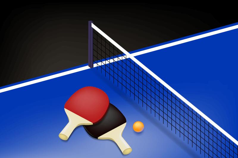 逼真的乒乓球背景矢量素材(AI/EPS)